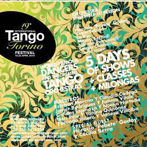 TANGO TORINO FESTIVAL - DAL 18 AL 22 APRILE