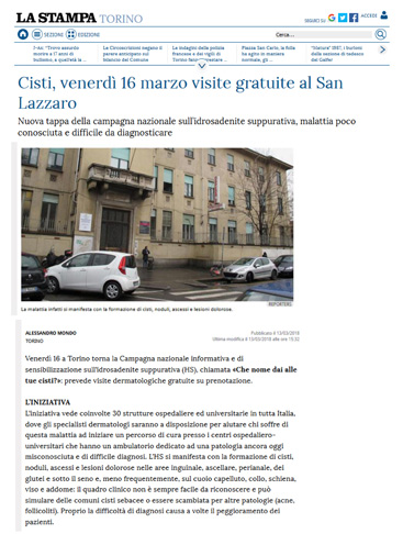 Cisti, venerdì 16 marzo visite gratuite al San Lazzaro