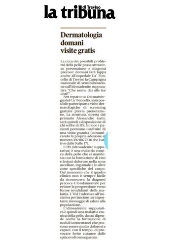Dermatologie domani visite gratis