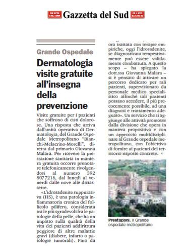 Dermatologia visite gratuite all'insegna della prevenzione