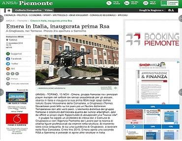 Inaugurata la prima RSA del Gruppo Emera